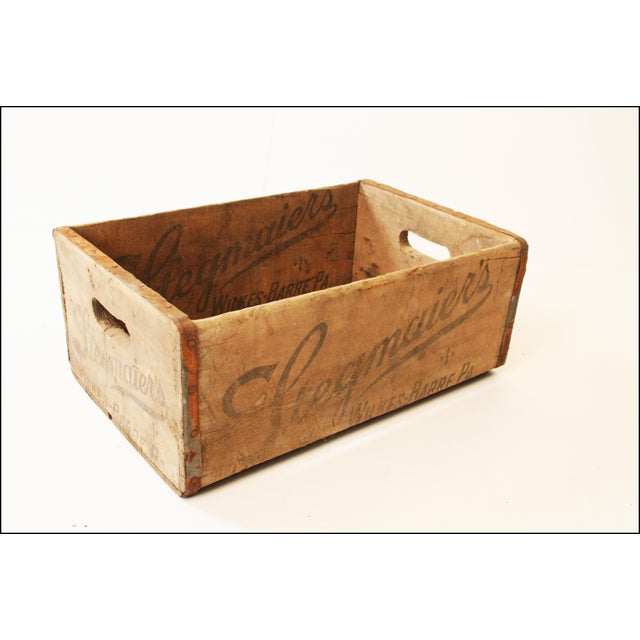 Metal Vintage Rustic Stegmaier's Brewery Wood Crate For Sale - Image 7 of 11