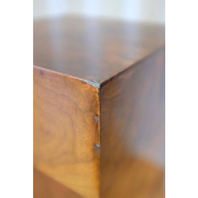 Vintage Milo Baughman-Style Architectural Walnut Pedestal For Sale - Image 9 of 10