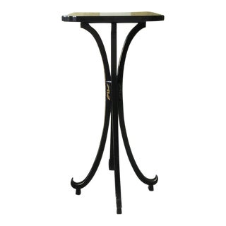Tall Chinoiserie Art Deco Pedestal Stand For Sale
