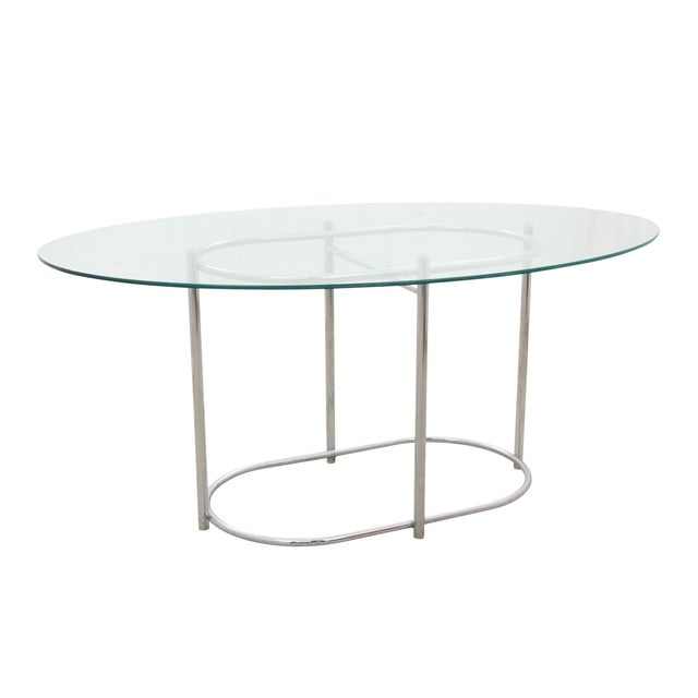 Chrome & Glass Dining Table - Image 2 of 6