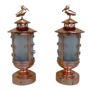 1920's Art Deco Maritime Nautical Dock Lamps - a Pair For Sale