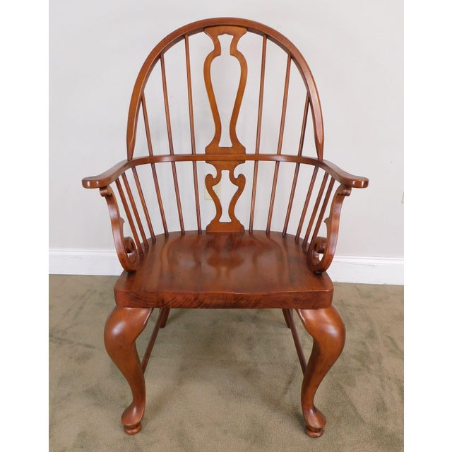 Wood Bob Timberlake Lexington Furniture Set 4 Cherry Windsor Dining Chairs For Sale - Image 7 of 13