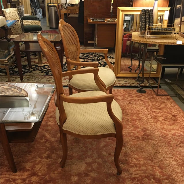 Cane Back Armchairs- A Pair - Image 4 of 10