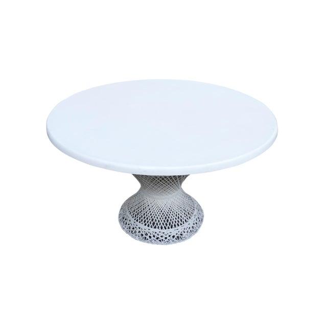 Kravet Upholstered Russell Woodard Spun Fiberglass Patio Dining Set For Sale - Image 10 of 13