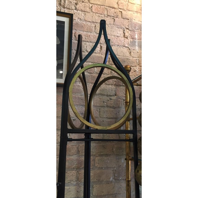Mid-Century Modern Vintage Iron and Gilt Trellis Screen Dividers-a Pair For Sale - Image 3 of 9