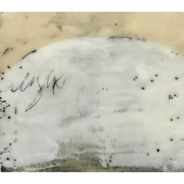 """""""Perceptions No. 11"""" Original Encaustic Collage Painting by Gina Cochran For Sale - Image 4 of 5"""