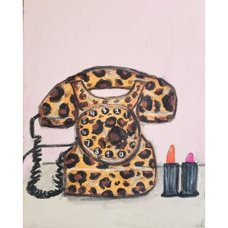 Leopard Phone Drawing by Kendra Dandy For Sale