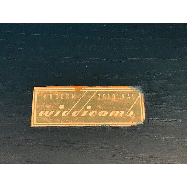 "Vintage T. H. Robsjohn Gibbings for Widdicomb ""Modern Original"" 3 Drawer Nightstand Solid Brass Pulls - a Pair For Sale - Image 9 of 11"