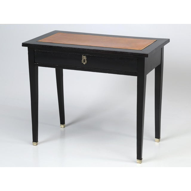 Antique French Ebonized Writing Table For Sale - Image 11 of 11
