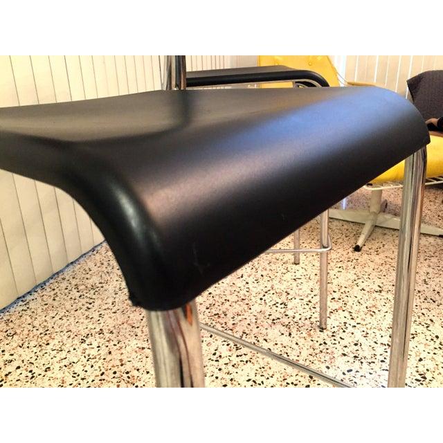 Metal Italian Chrome Bar Stools - Set of 3 For Sale - Image 7 of 13