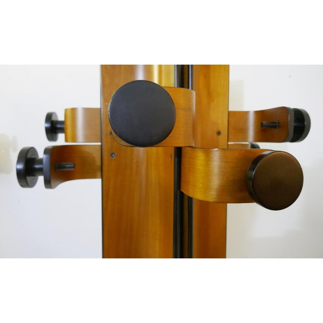 Wood Coat Rack in Multiplex Curved Wood by Campo & Graffi For Sale - Image 7 of 10