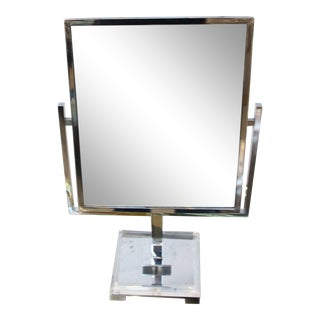 1970's Charles Hollis Jones Double Sided Table Mirror For Sale
