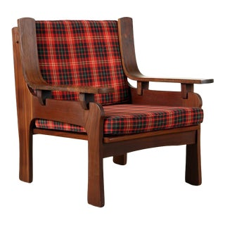 Mid-Century Modern Italian Rosewood Bentwood Arm Chair For Sale
