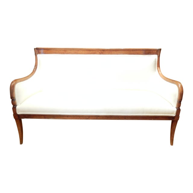 Neo-Classical Italian Walnut Settee For Sale