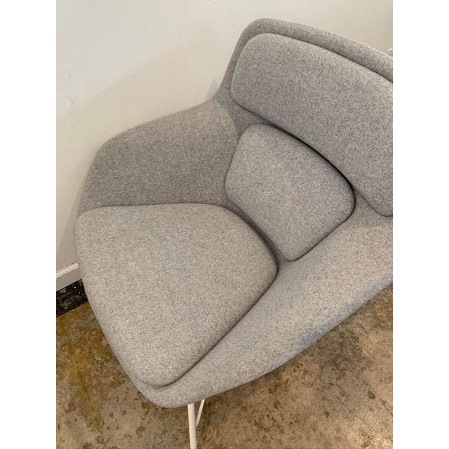 2010s Gray Flannel Mid-Century Womb Chair For Sale - Image 5 of 9
