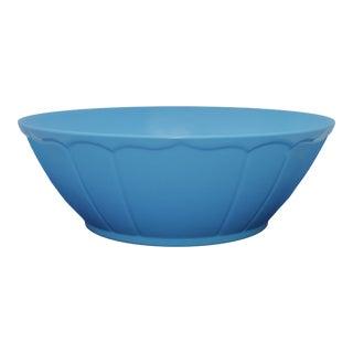 """Terra Blue 12.5"""" 9"""" Melamine Salad Bowl For Sale"""