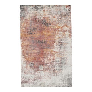 Modern Pasargad N Y Wool & Bamboo Silk Hand Knotted Area Rug - 5' X 8' For Sale