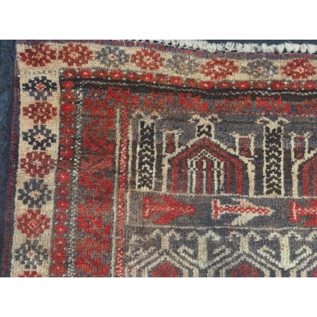 "Vintage Persian Baluchi Rug - 2'6""x3'5"" - Image 6 of 11"