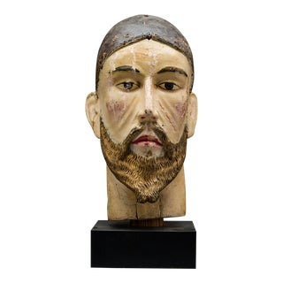 Wooden Head of Christ For Sale