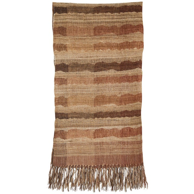 2010s Indian Handwoven Throw Ocean Stripe Warm For Sale - Image 5 of 5