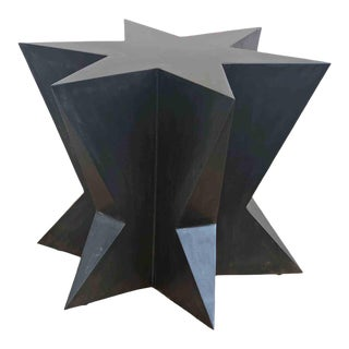 Black Star Dining Room Metal Table Base Handmade by Invictus Steelworks For Sale