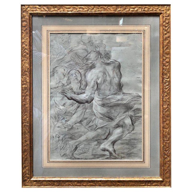 """Italian 17th Century Painter g.b. Beinaschi, """"Study of Figures"""" For Sale - Image 9 of 9"""