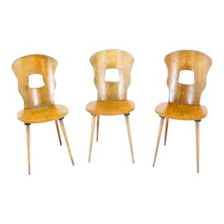 Danish Modern Molded Plywood Chairs - Set of 3 For Sale