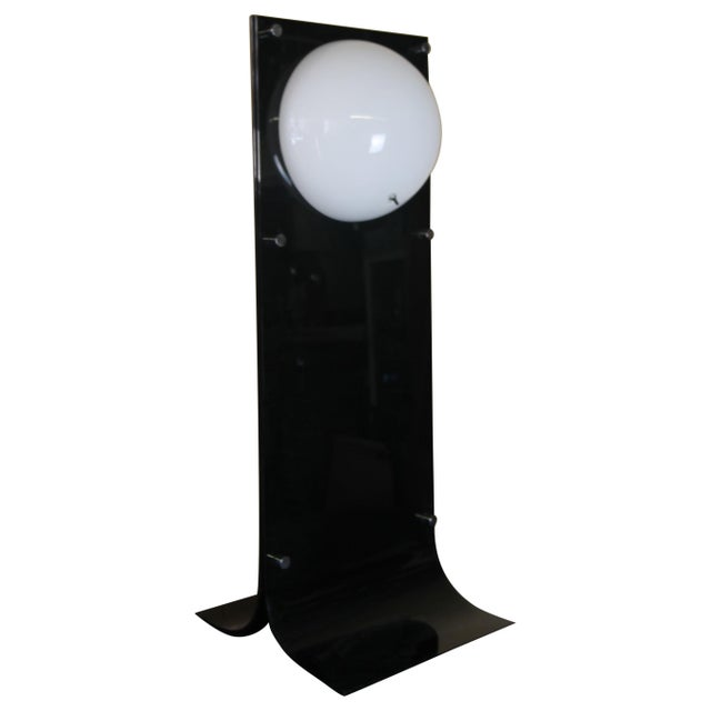 1960s Neal Small Black Acrylic Lamp For Sale - Image 5 of 5