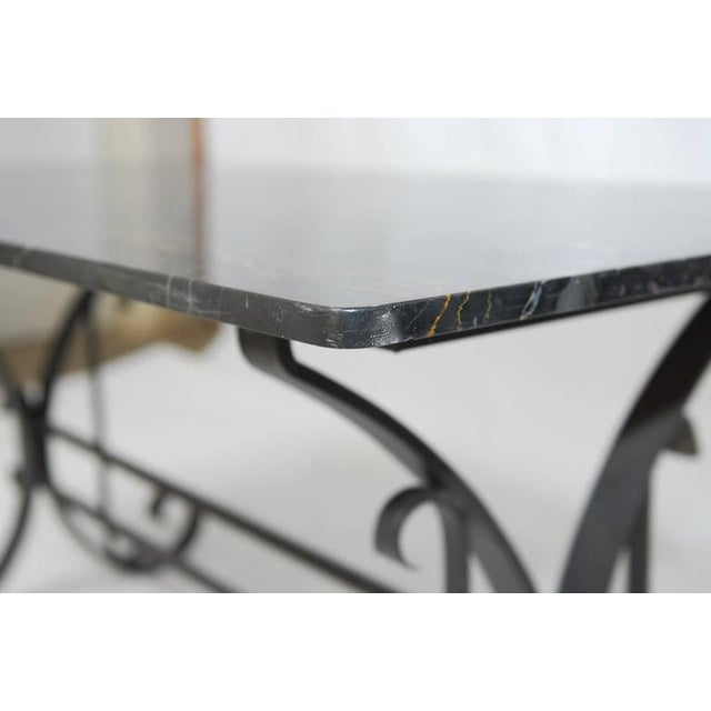 Italian Wrought Iron and Black Marble Dining Table For Sale - Image 10 of 10
