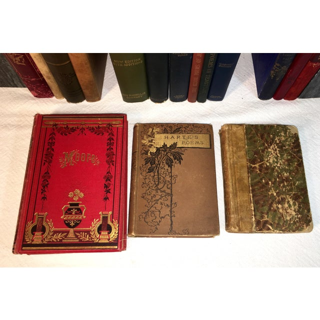 Collection of Antique Poetry Books - Set of 16 For Sale - Image 4 of 7