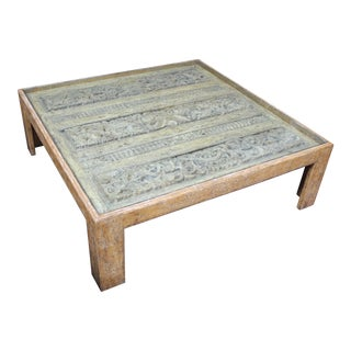 Antique Indian Architectual Fragment Custom Coffee Table For Sale