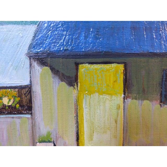 Robert Blanchard Mid-Century Cottage Oil Painting - Image 5 of 9