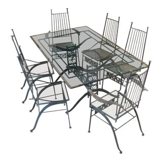 Exceptional & Rare Salterini El Prado Dining Set For Sale