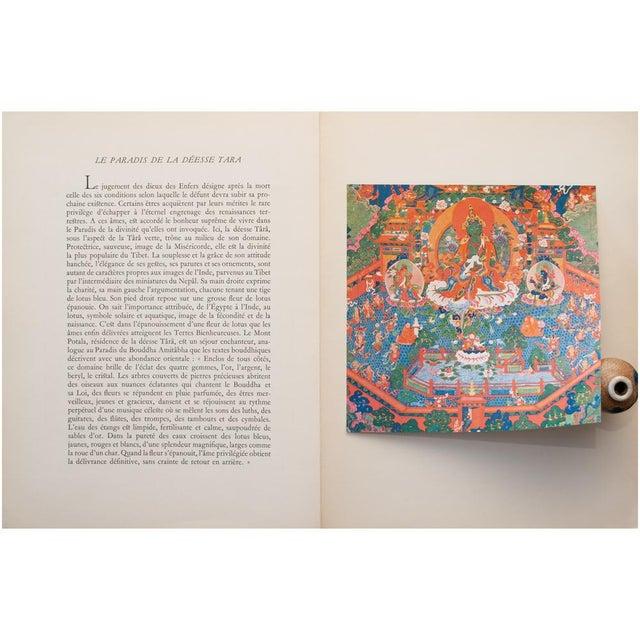Asian 1954 the Paradise of the Tara Goddess, Original Parisian Photogravure After 18th C. Tibetan Painting For Sale - Image 3 of 9