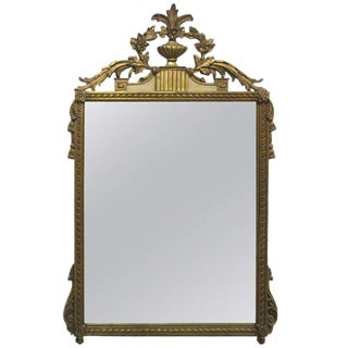 Gold Gilt Mirror For Sale