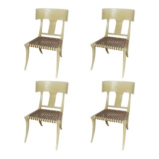 Set of Four Klismos Form Side Chairs For Sale