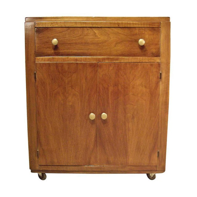 1950s Mid-Century Modern Wood Bar Cart For Sale - Image 4 of 8