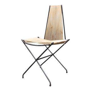 Rare 1950s Detroit Modernist Iron Chair Original Studio Craft McCobb Eames Era For Sale