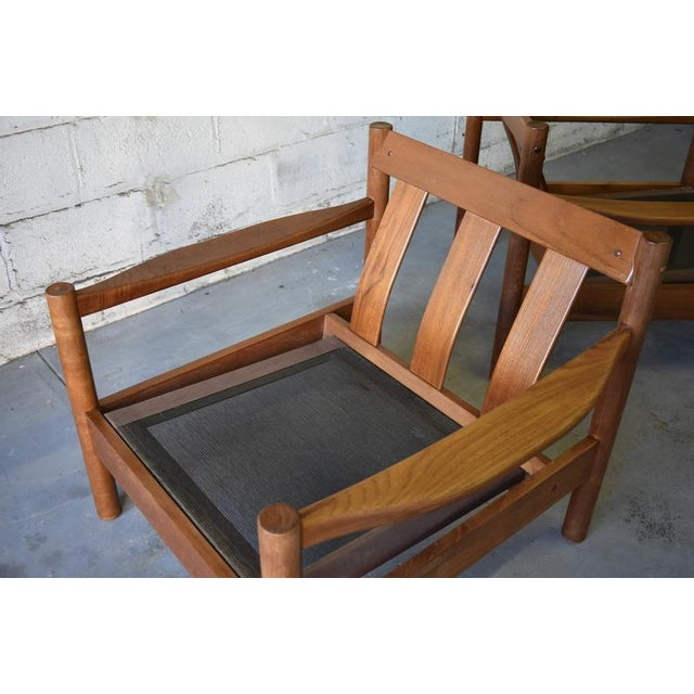 Red Mid Century Modern Teak Lounge Chair / Armchair For Sale - Image 8 of 9