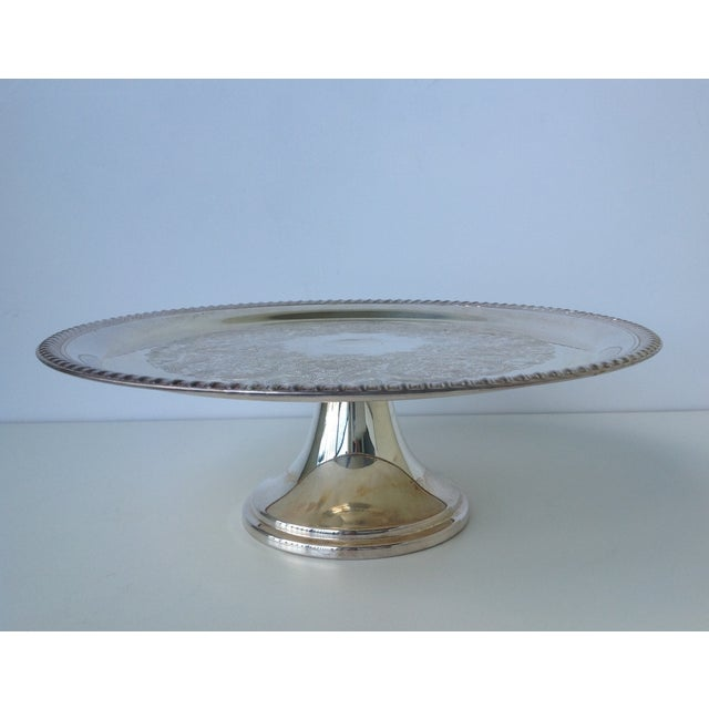 Wm A Rogers Silver Plate Marks: Wm. Rogers Vintage Silver-Plated Footed Cake Stand