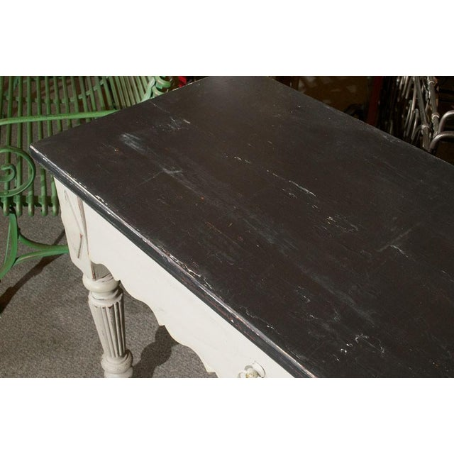 French Painted Wood Butcher Table - Image 4 of 7