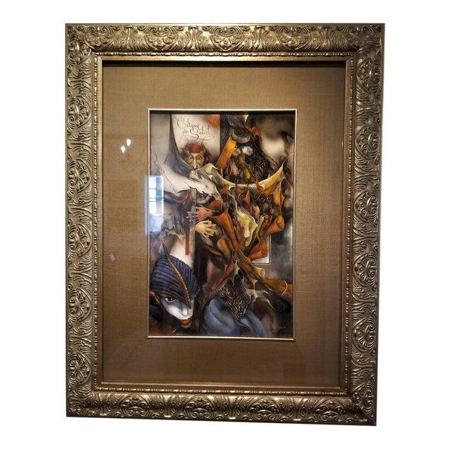 "Vladimir Ryklin ""Cirque De Soleil 1"" Oil Painting on Canvas For Sale"