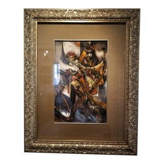 Vladimir Ryklin Oil on Canvas Cirque De Soleil 1 For Sale