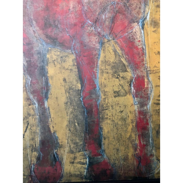 Wood Figurative Reverse-Color Framed Hearting Horses Prints - a Pair For Sale - Image 7 of 12