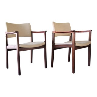 1960s Mid-Century Danish Modern Rosewood Chairs by Bondo Gravesen - a Pair For Sale