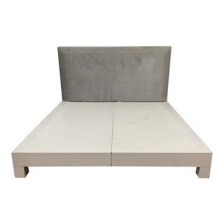 Eastern King Donghia Ginger Fabric Upholstered Platform Bed For Sale