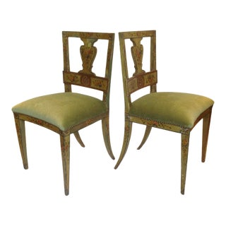 Vintage Venetian Side Chairs - a Pair For Sale