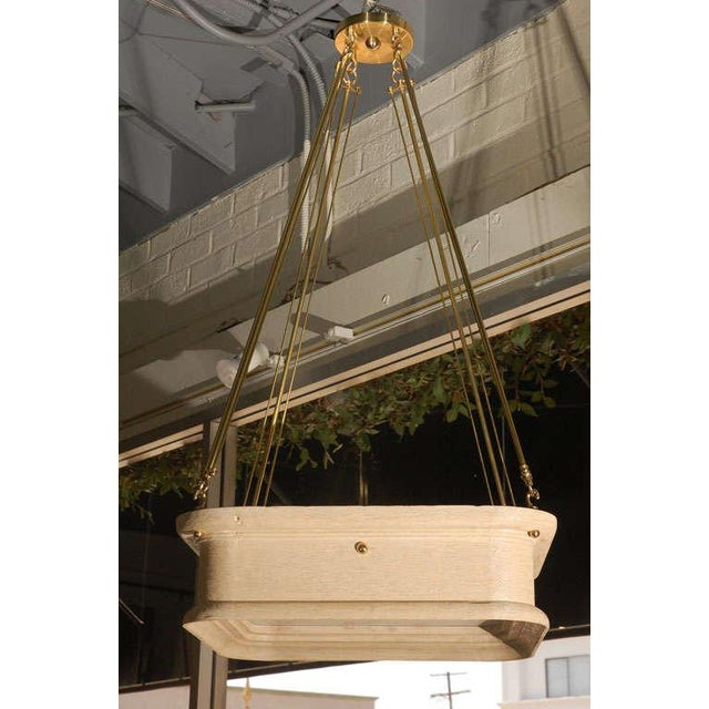 Paul Marra Boch Chandelier in Distressed Natural For Sale In Los Angeles - Image 6 of 9