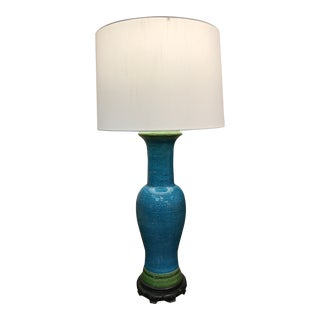 1960s Mid Century Italian Bitossi Ceramic Lamp For Sale