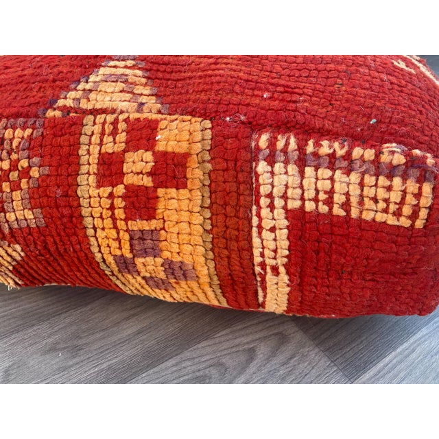Moroccan 1980s Vintage Moroccan Pouf Cover For Sale - Image 3 of 13